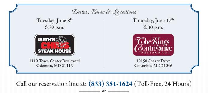 Retirement & Estate Planning Dinner Events